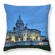 State House Night Throw Pillow