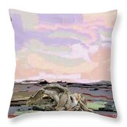 Statue Of A Horse From Branches Throw Pillow