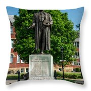 Statue Of Chief Justice John Marshall Throw Pillow