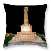 Statue Of Dom Pedro Iv Throw Pillow