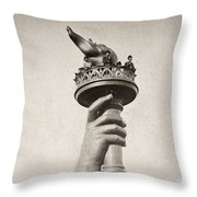 Statue Of Liberty, 1876 Throw Pillow