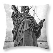 Statue Of Liberty, 1886 Throw Pillow