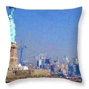 Statue Of Liberty, Nyc Throw Pillow