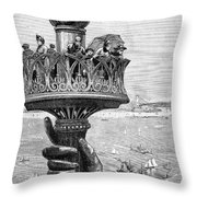 Statue Of Liberty: Torch Throw Pillow