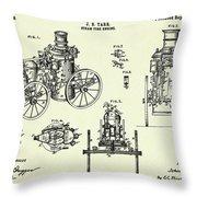 Steam Fire Engine-1896 Throw Pillow