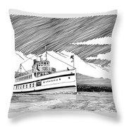 Steamship Virginia V Throw Pillow