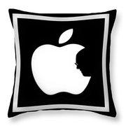 Steve Jobs Apple Throw Pillow