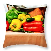 Still Life - Vegetables Throw Pillow