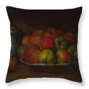 Still Life With Apples And A Pomegranate Throw Pillow