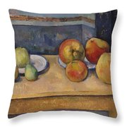 Still Life With Apples And Pears Throw Pillow