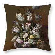 Still Life With Flowers Throw Pillow