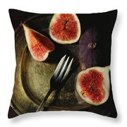 Still Life With Fresh Figs Throw Pillow