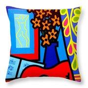 Still Life With Henri Matisse's Verve Throw Pillow