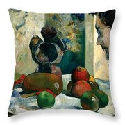 Still Life With Profile Of Laval Throw Pillow