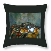 Still Life With Teapot Throw Pillow