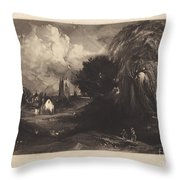 Stoke-by-neyland Throw Pillow