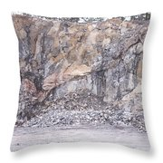 Stone Mine Throw Pillow