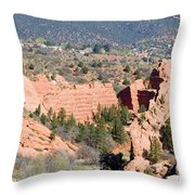 Stone Quarry At Red Rock Canyon Open Space Park Throw Pillow