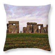 Stonehenge England United Kingdom Uk Throw Pillow