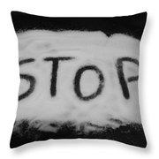 Stop Throw Pillow