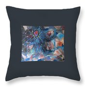 Storm At Sea Throw Pillow
