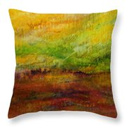 Storm At Sunrise Throw Pillow