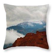 Storm Brewing At Garden Of The Gods Throw Pillow