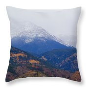 Storm Clouds On Pikes Peak Throw Pillow