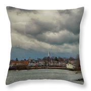 Storm Clouds Over The Bass River Throw Pillow