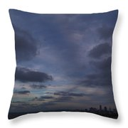 Storm Over Cleveland Throw Pillow