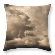 Storm Over Table Rock Throw Pillow