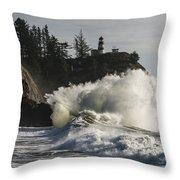 Storm Surf Throw Pillow