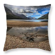 Storms Over Upper Waterton Lake Throw Pillow