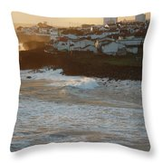 Stormy Weather In Azores Throw Pillow