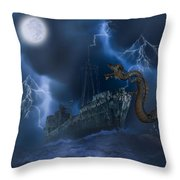 Stormy Weather Throw Pillow by Solomon Barroa