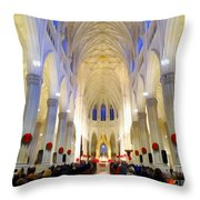 St.patricks Cathedral Restored Throw Pillow