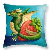 Strawberry Dragon Throw Pillow