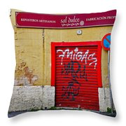 Street Art In Palma Majorca Spain Throw Pillow