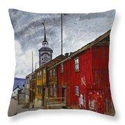 Street In Roros Throw Pillow
