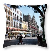 Streets Of Puebla 5 Throw Pillow