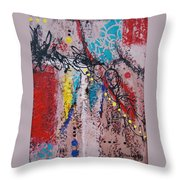 Stringed Abstract Throw Pillow