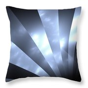 Stripes And Sky Throw Pillow