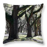 Strong Trees In The South Throw Pillow