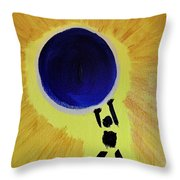 Stronger Than The World On My Shoulders Throw Pillow