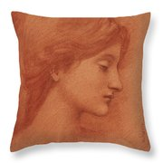 Study Of A Female Head Throw Pillow
