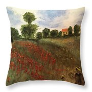 Study Of Monet Throw Pillow