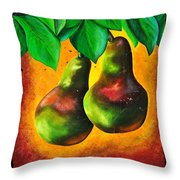Study Of Two Pears Throw Pillow