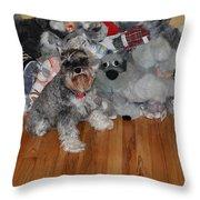 Stuffed Animals Throw Pillow