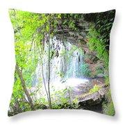 Stumphouse Tunnel Throw Pillow