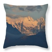 Stunning Countryside Of Northern Italy With The Alps  Throw Pillow